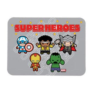 Kawaii Marvel Super Heroes Magnet