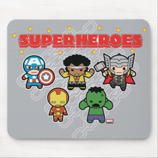 Kawaii Marvel Super Heroes Mouse Pad