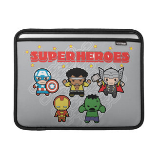 Kawaii Marvel Super Heroes Sleeve For MacBook Air