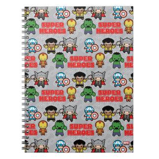 Kawaii Marvel Super Heroes Spiral Notebook