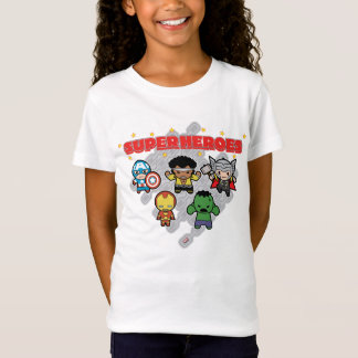 Kawaii Marvel Super Heroes T-Shirt