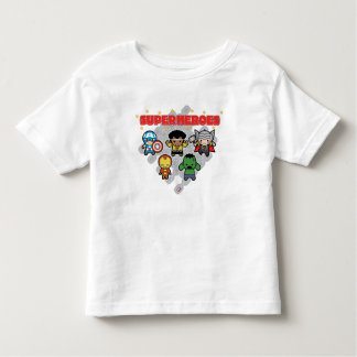 Kawaii Marvel Super Heroes Toddler T-Shirt