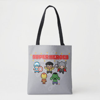 Kawaii Marvel Super Heroes Tote Bag