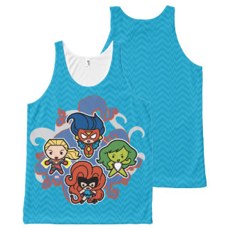 Kawaii Marvel Super Heroines All-Over Print Singlet