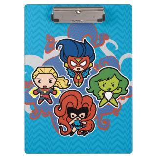 Kawaii Marvel Super Heroines Clipboard