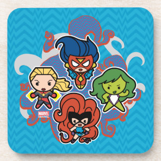 Kawaii Marvel Super Heroines Coaster