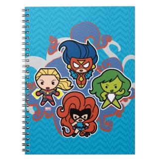 Kawaii Marvel Super Heroines Spiral Notebook