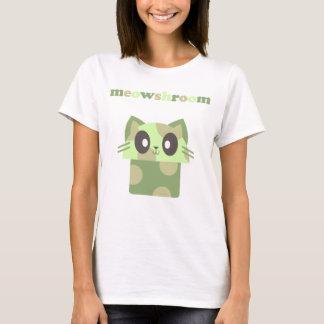 kawaii meowshroom kitty cat mushroom T-Shirt