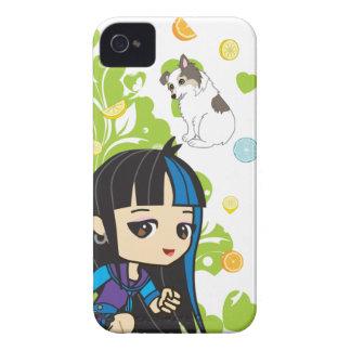 Kawaii Mika the Punk Girl Chibi 9700/9780 iPhone 4 Cases