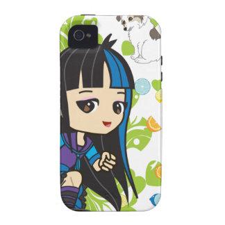 Kawaii Mika the Punk Girl Chibi Case-Mate iPhone 4 Cover