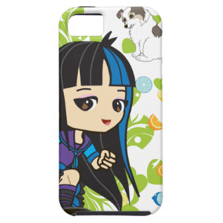 Kawaii Mika the Punk Girl Chibi iPhone 5 Case