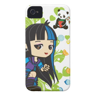Kawaii Mika the Punk Girl Panda 4S/4 iPhone 4 Cover