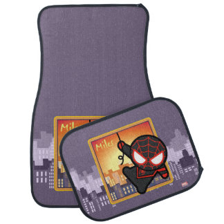 Kawaii Miles Morales City Sunset Car Mat