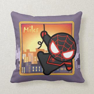 Kawaii Miles Morales City Sunset Cushion