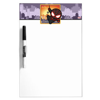 Kawaii Miles Morales City Sunset Dry Erase Board