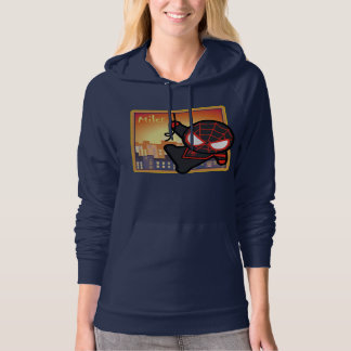 Kawaii Miles Morales City Sunset Hoodie
