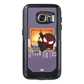 Kawaii Miles Morales City Sunset OtterBox Samsung Galaxy S7 Case