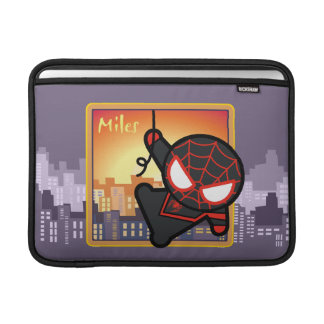 Kawaii Miles Morales City Sunset Sleeve For MacBook Air
