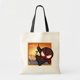 Kawaii Miles Morales City Sunset Tote Bag