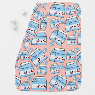 Kawaii Milk Print Baby Blanket