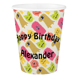Kawaii Monster Birthday Party Cup