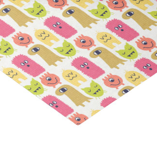 Kawaii Monster Birthday Tissue Paper