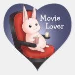 Kawaii movie theatre bunny rabbit heart stickers