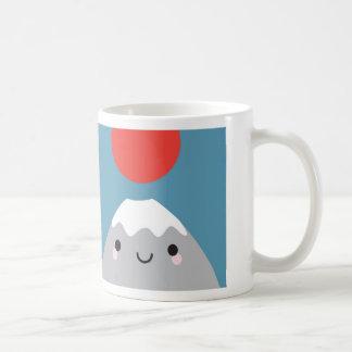 Kawaii Mt Fuji San Basic White Mug