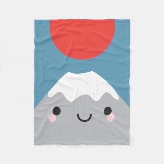 Kawaii Mt Fuji San Fleece Blanket