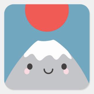Kawaii Mt Fuji San Square Sticker