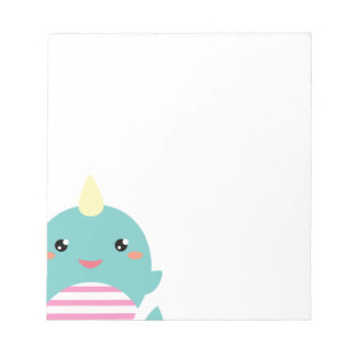 Kawaii Narwhal Notepads