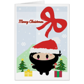 Kawaii Ninja Christmas Card