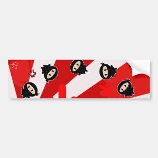 Kawaii Ninja Flipz Bumper Sticker
