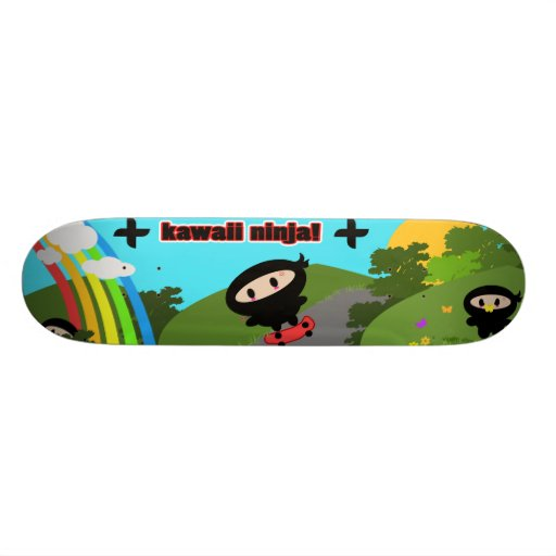 Kawaii Ninja Skateboard