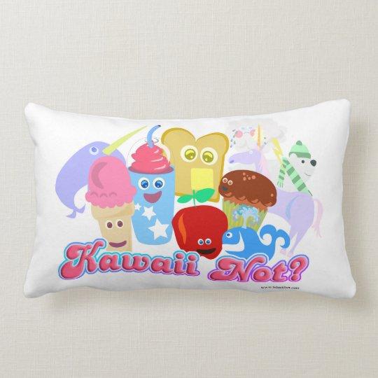 Kawaii Not Cute Characters Lumbar Pillow Zazzle