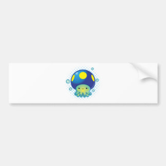 Kawaii Octopus Mushroom Bumper Sticker