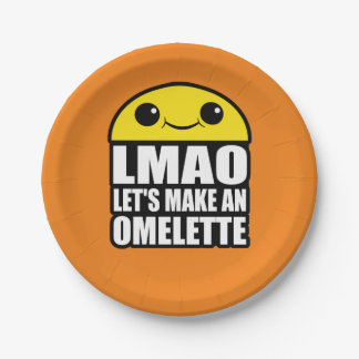 Kawaii Omelette Character 7 Inch Paper Plate