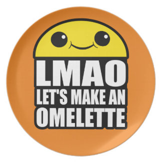 Kawaii Omelette Character Plate