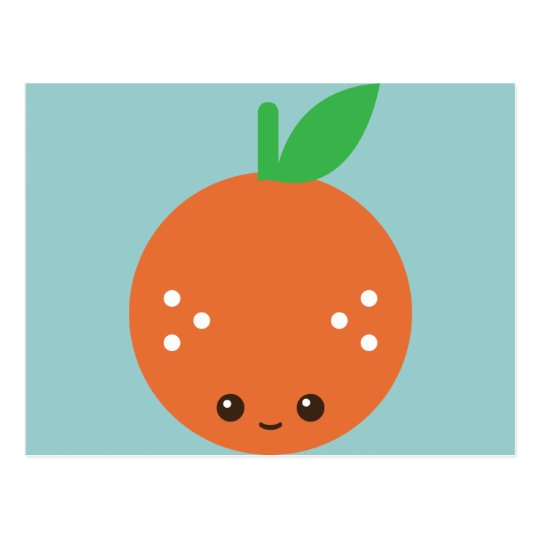 Kawaii Orange Postcard