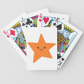 Kawaii Orange Star Bicycle Playing Cards