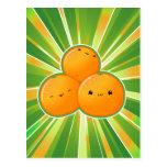 Kawaii Oranges Postcard