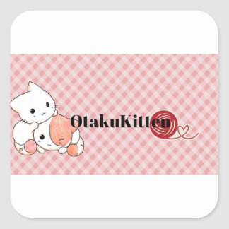 Kawaii OtakuKitten Mixx Square Sticker