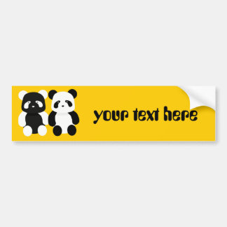 kawaii panda buddies bumper sticker