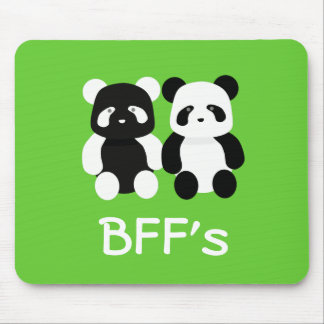 kawaii panda buddies mouse pad