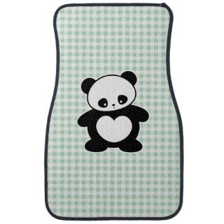 Kawaii panda car mat
