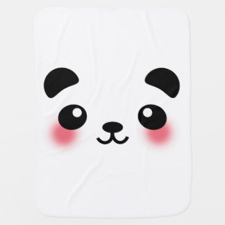 Kawaii Panda Face Baby Blanket