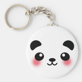 Kawaii Panda Face Key Ring