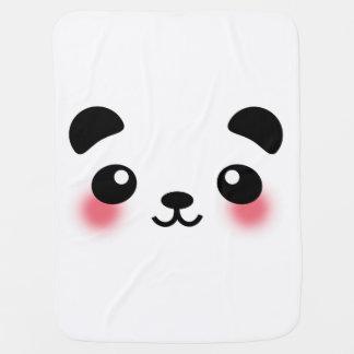 Kawaii Panda Face Pramblanket