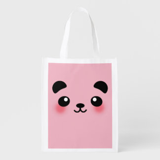 Kawaii Panda Face Reusable Grocery Bag