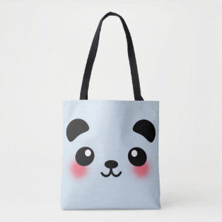 Kawaii Panda Face Tote Bag